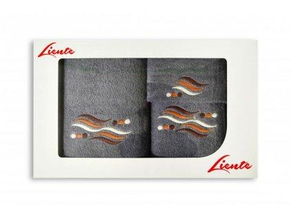3-dielna sada uterákov Liente - popolavý