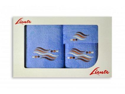 3-dielna sada uterákov Liente - modré