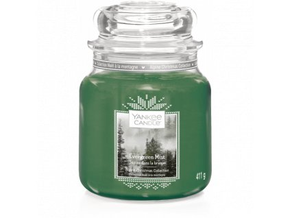 Vonná sviečka Yankee Candle - Evergreen mist