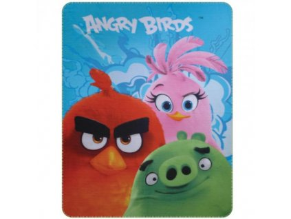 Detská deka Angry Birds 110x140cm