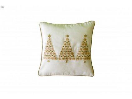 Biela vianočná obliečka - 40x40cm