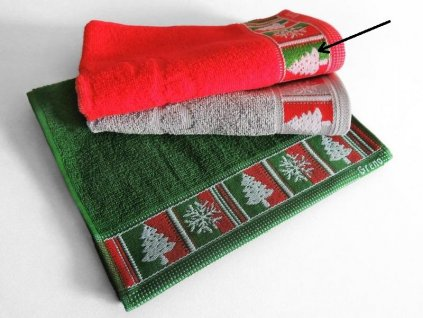 Uteráčik Merry Christmas 30x50cm, farba červená