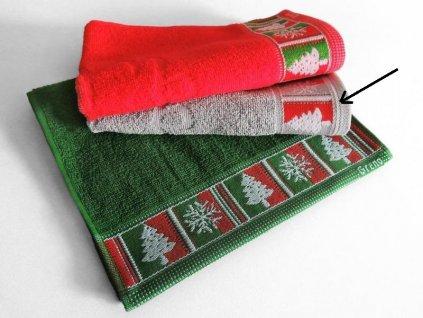 Popoľavý vianočný uteráčik Merry Christmas - 30x50cm