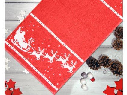 Uterák Charming Christmas červený 50x100cm