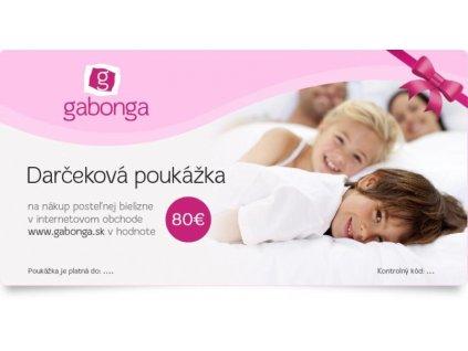 Darčeková poukážka na nákup posteľnej bielizne v hodnote 80 €
