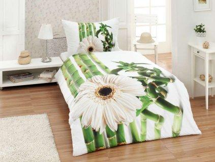 3D obliecky bavlnene biely kvet gabonga