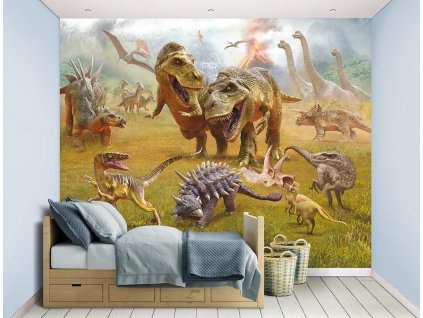 3d tapeta dinosaur land