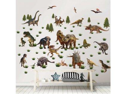 sada dekoracnych samolepiek dinosaury