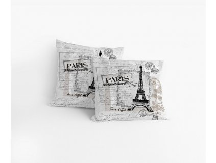Obliečka bavlnená Paris Monuments 40x40cm