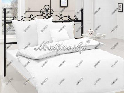 Obliečky z bavlneného saténu - farba biela