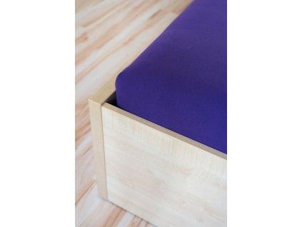 napinacia postelna plachta jersey violet 460 gabonga