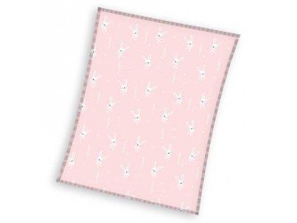 detská flísová deka Zajačik