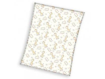 Detská flísová deka Žirafa