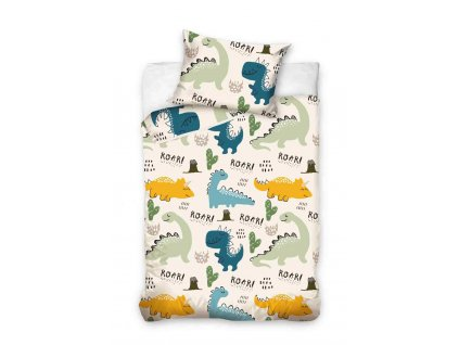 bavlnene postelne obliecky do postielky dino gabonga
