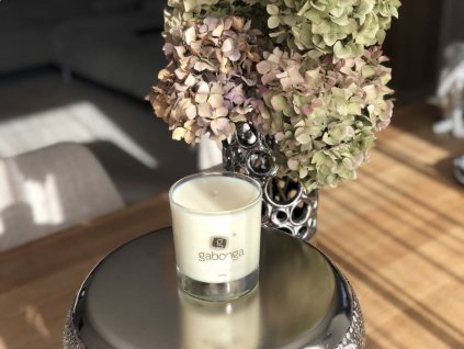 Luxusná sójová sviečka v skle Fizzy pink Gabonga