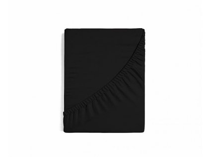 Plachta z bavlneného saténu čierna