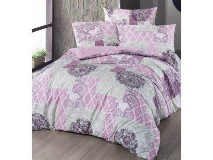 Rúžové bavlnené obliečky Ottorino DeLuxe