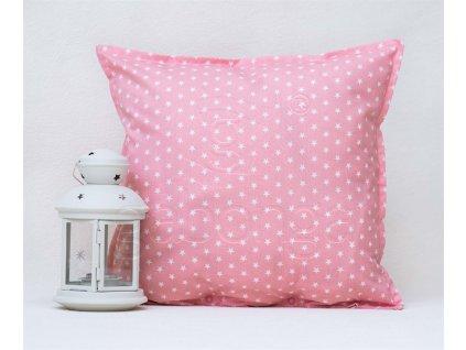 Hviezdičková rúžová bavlnená obliečka Star - 40x40cm