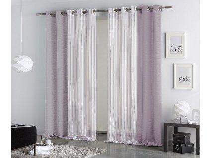 Kombinovaný záves Coral violet