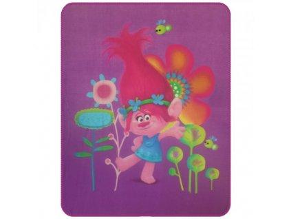 Detská flísová deka Trolls Popy - 110x140cm