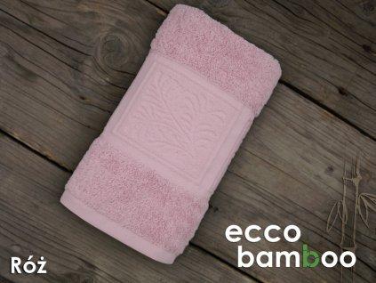 Rúžový uterák Ecco bamboo - 50x90cm