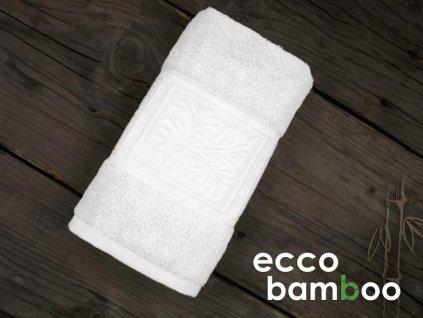 Kvalitný biely uterák Ecco bamboo - 50x90cm