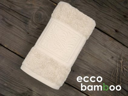 Osuška Ecco bamboo béžová 70x140cm
