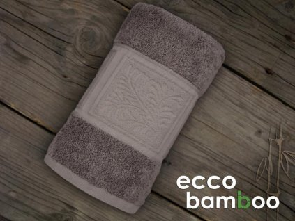 Tmavohnedá osuška Ecco Bamboo - 70x140cm