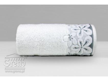 Biely uterák s bordúrou Bella - 50x90cm