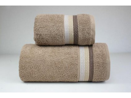 Béžová bavlnená osuška Ombre - 70x140cm