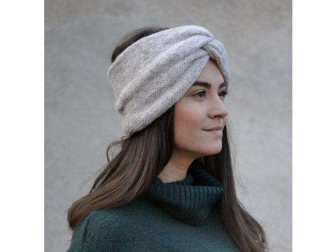 Turban čelenka...světlešedá