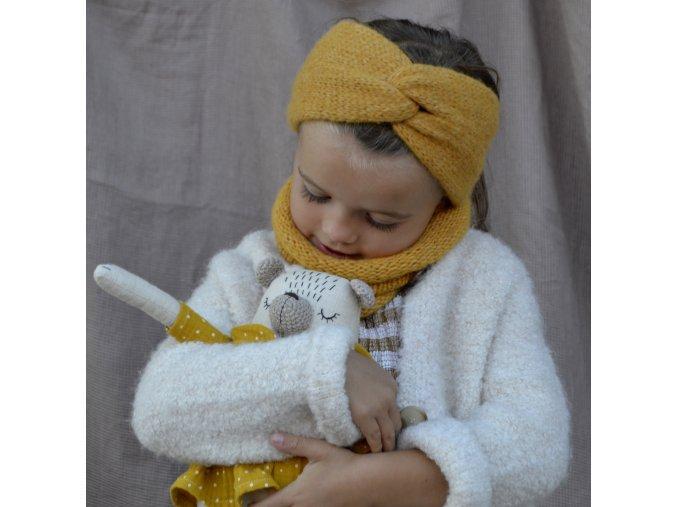 Baby turbančelenka...zlatá