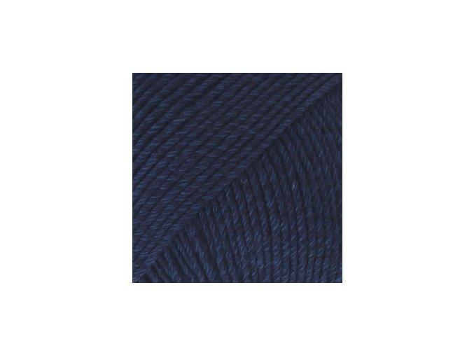 Cotton merino 08 tmavá modrá
