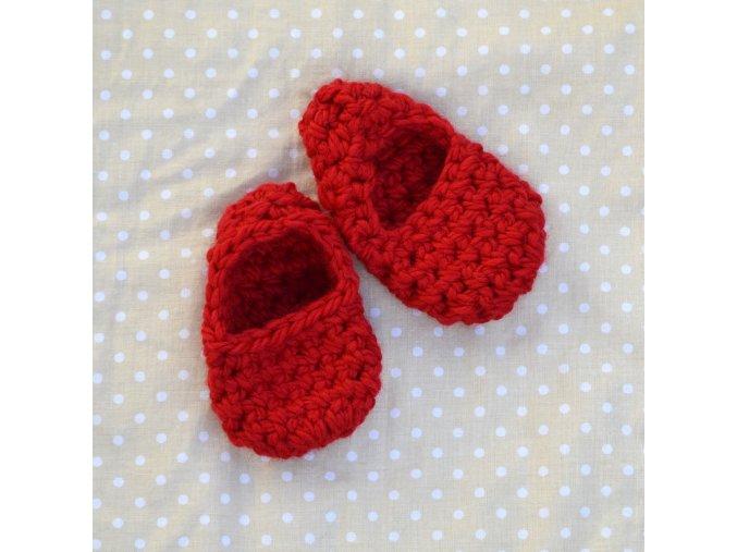 Minipapučky...červené
