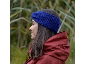 Háčkovaná čelenka...modrá