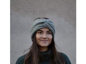 Turban čelenka...ledová zelená