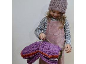 Dětská vlněná dečka...s fialovou