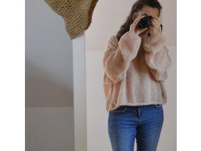 Pletený obláček...růžový písek