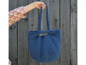 Háčkovaná taška...modrá