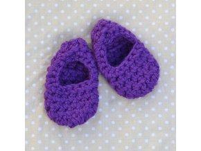 Minipapučky...fialové