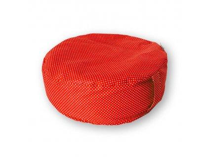 Pohankový meditační sedák LITTLE DOTS red (Baleno v průhledném úložném vaku)