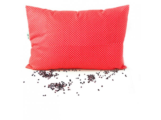 GADEO Pohankový polštářek LITTLE DOTS RED  nahřívací