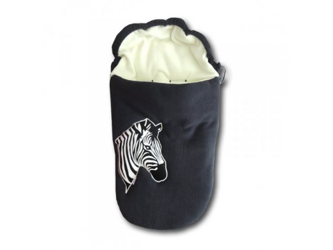 GADEO Fusak fleece ZEBRA antracit