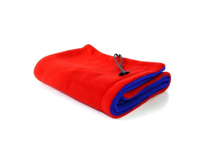 GADEO Deka fleecová CHAMELEON červená-modrá