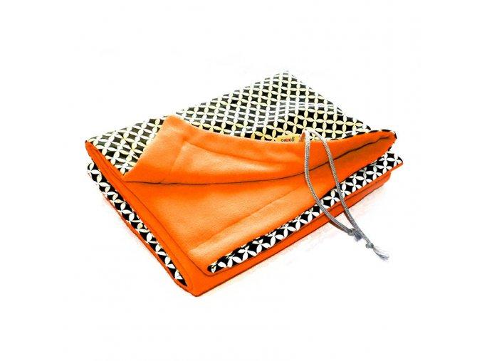 GADEO Deka fleecová MAROKO oranžová