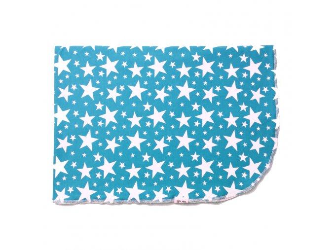 GADEO Letní deka do kočáru STARS blue