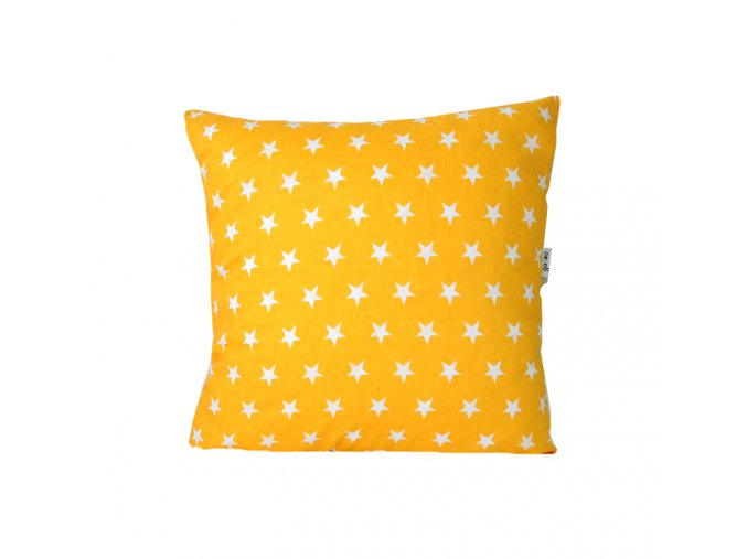 GADEO dekorační povlak na polštář HVĚZDA žlutá