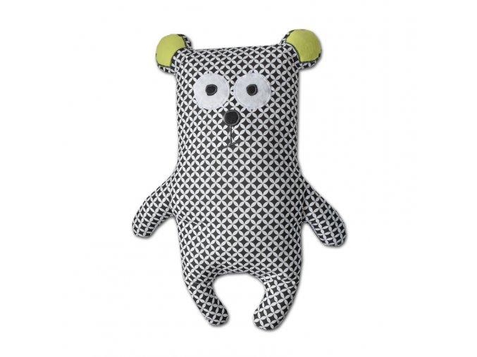GADEO dětský polštář Medvídek černý, 70cm