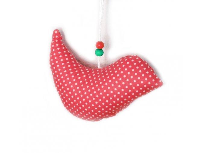 GADEO závěsný ptáček Little Dots red