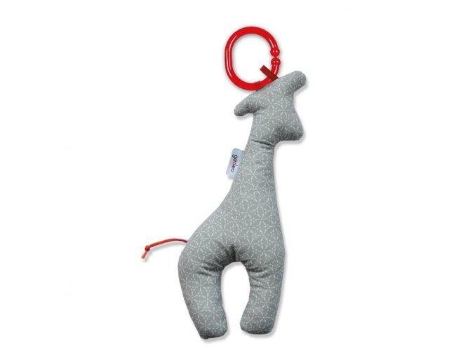 Gadeo závěsná dekorace/hračka Žirafa šedá